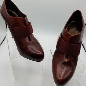Jessica Simpson Burgundy Leather Heels